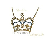 English Crown necklace