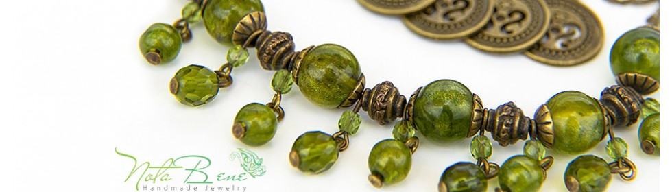 green coins necklace